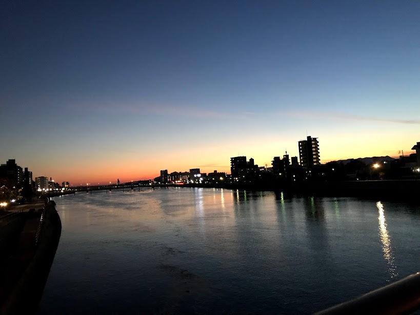 広島の夕方